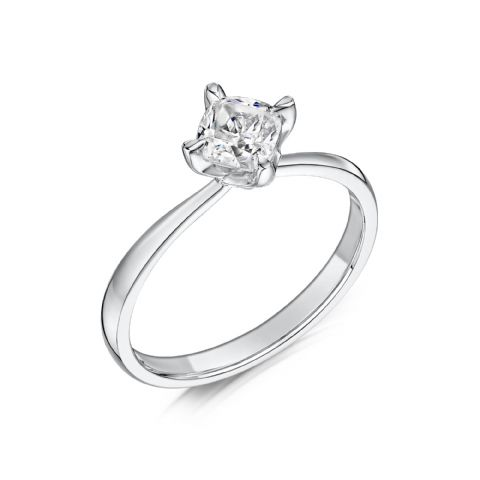 0.4 Carat GIA GVS Diamond solitaire 18ct White Gold Cushion shaped Engagement Ring MWSS-1183/040